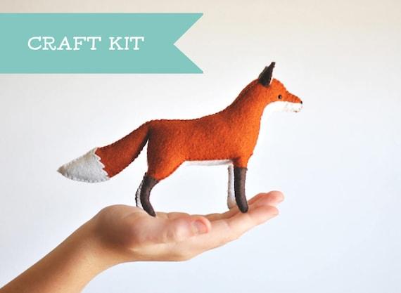 Stuffed Fox Felt Animal Kit Stuffed Animal Sewing Kit