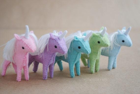 Mini Stuffed Unicorn Plush Tiny Unicorn Pegasus Alicorn Etsy