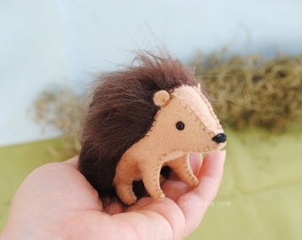 Felt Hedgehog Stuffed Animal Pattern * DIY Hedgehog Plush * Make Your Own Felt Animals. Handmade Christmas.
