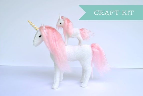 Felt unicorn sewing kit from Delilah Iris.
