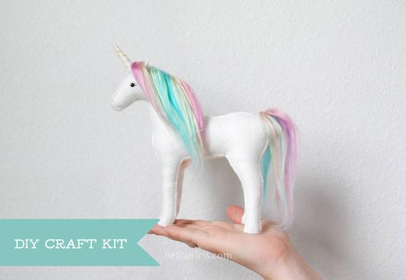 Unicorn Sewing Kit Make Your Own Stuffed Unicorn Diy Kit