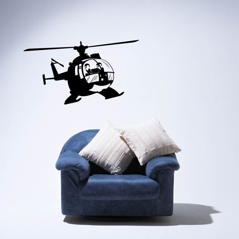 Military Helicopter American Air force Vinyl Wall Decal Adhesive Sticker