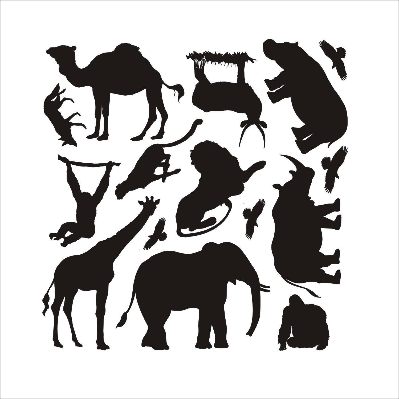 Постеры силуэты животных