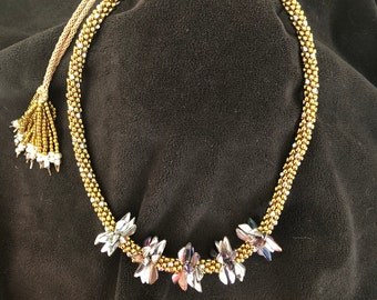 Kumihimo Gold & Silver necklace