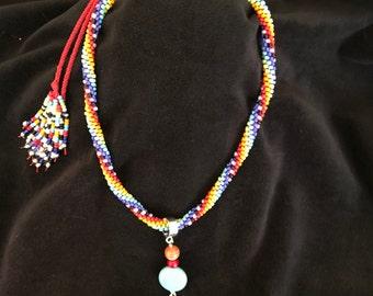 Fiesta Adjustable Kumihimo necklace