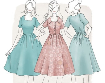 The Asteria Dress Women's PDF Sewing Pattern Size 6 to 24 A to D cup