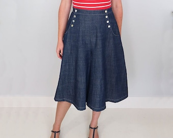 Bastion Culottes Ladies PDF Sewing Pattern Multi Size 6 to 24