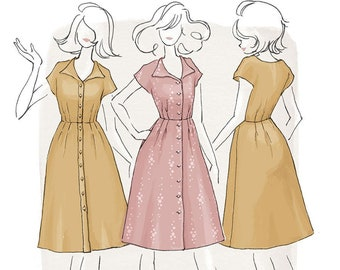 The Sorrel Dress Women's PDF Sewing Pattern Size 6 to 24 A to D cup