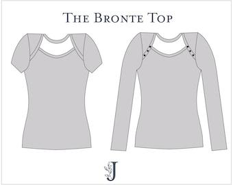 Bronte Knit Top Ladies PDF Sewing Pattern Multi Size 6 to 24