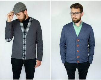 The Auden Men's Knit Cardigan PDF Sewing Pattern SX to XL