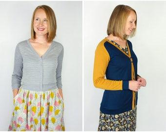 The Juniper Cardigan Women's PDF Sewing Pattern Size 6 to 24