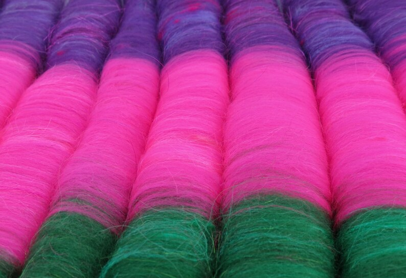 Licorice Allsorts 3.8 oz Rolags Spinning S/'lags