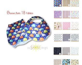 Baby Bib, Burp cloth or Baby Gift Set, Burp rag, Drool bib, Feeding bib, Monogrammed baby bib, Embroidered Baby Gift, Personalized Baby Gift