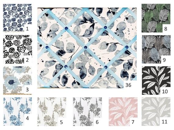 Floral Print   French Memo Board Bulletin Board Cork Board