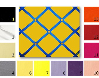 36 x 48 Solid Cotton Broadcloth French Memo Board  with Ribbon - Bulletin Board - Your choice of fabric and  ribbon colors - FREE U.S. Ship