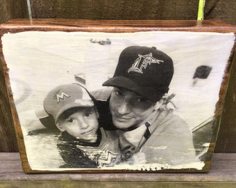 Wood Photo Block - Your Photo on Wood -  Wood Photo Transfer, Picture Frame, Party Decor, Wedding Decor, Wedding Favors - FREE Domestic Ship