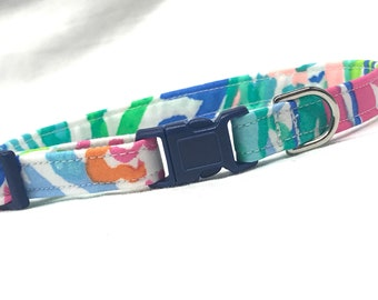 Lilly Pulitzer Mermaid Cove Cat Collar Boy Girl