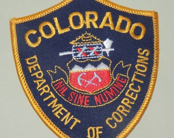 Colorado Department of Corrections Embroidered patch