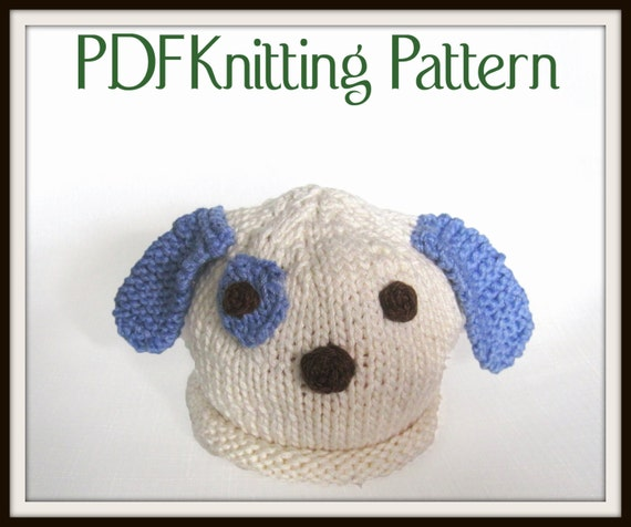 Baby Puppy Dog Hat Pattern Knit Boston Beanies