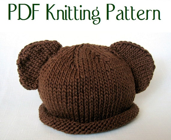 Baby Bear Hat Pattern Knit Boston Beanies Etsy