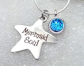Sparkling Mermaid Tear in Dichroic Glass Pendant Blue, Pink or Green, Dainty, Delicate Silver Choker, Beach Glass, Mermaid Soul, Sea Glass