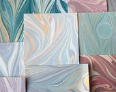 Marbled Paper Variety - Assortment of Cool Shades