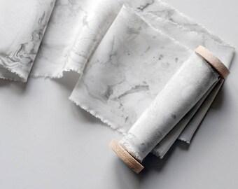 Terrazzo Marbled Silk Ribbon