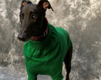Greyhound Sweater, Large, Green