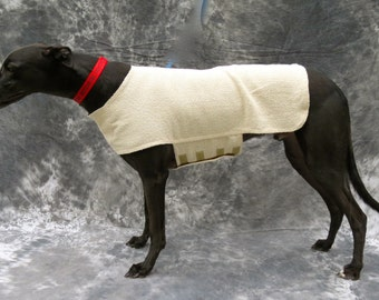 Greyhound Cool Down Coat, large, ivory