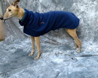 Greyhound winter coat, medium female, navy blue