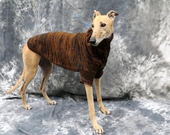 Greyhound Sweater Brown/Black Brindle, Medium