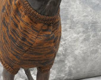 Brown/Black Brindle Greyhound Sweater Vest-large