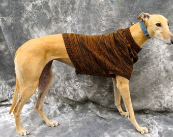 Black/brown brindle sweater vest for a greyhound -medium