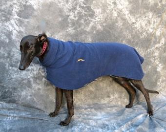 Greyhound Winter Coat, Large, Navy Blue