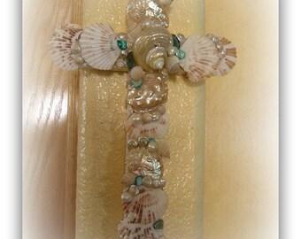 Summer's End Seashell Cross