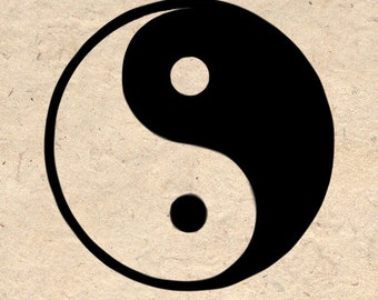 Yin Yang Symbol Art Poster Asian Art Yoga Art Zen Art Wall Decor