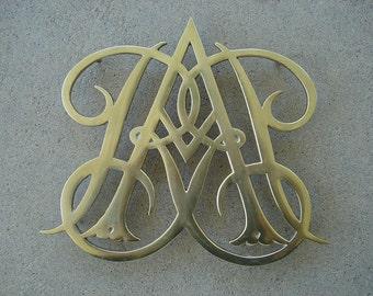 Brass Trivet Queen Anne Brass  - Plate Holder - Wall Art