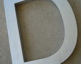 Letter D (uppercase D) - Metal Type Decorative Art - Wall Decor