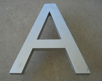 Letter A or D (uppercase A or D) - Metal Type Decorative Art - Wall Decor