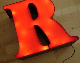 Letter R - Large Uppercase R - Wall Decor - Red Decorative Type Art
