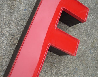 F letters - Wall Decor - Red Decorative Type Art - On Sale
