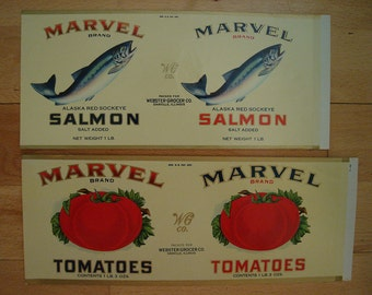 Labels for Canned Goods - 6 Different Designs - 50% off SALE