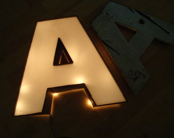 A Letter - Large Uppercase A - Wall Decor - White Decorative Type Art