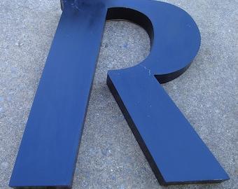 Letter R (Large Uppercase Letter) - Wall Decor - Black Decorative Type Art