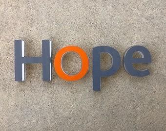 Hope Letters - Plexiglas Type Decorative Art - Wall Decor - On Sale