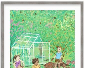 Little Growers (framed)