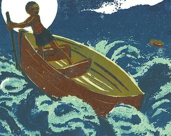 Michael, Row the Boat Ashore -framed