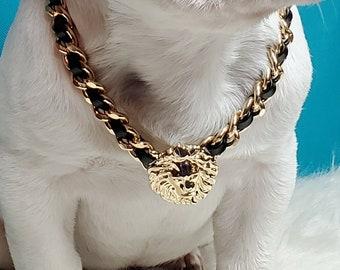 lithotherapy Christmas birthday dog gift idea White jade dog sociability necklace Dog welfare semi-precious stone