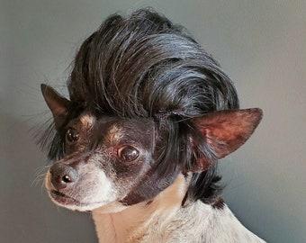 John Travolta Cute  black color wig  for your pet /Halloween  costume dog wig/