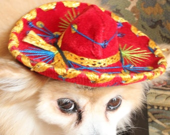 0a29de12a0a Cute sombrero hat red color for dog or cat